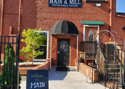 Exterior Back Door to Main and Mill Oyster Bar and Tavern